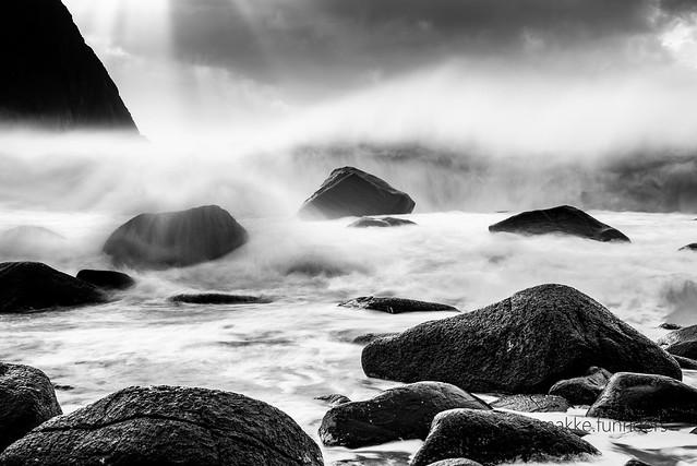 Unstad Beach Lofoten Norwegen