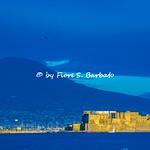 Napoli (NA), 2021, Via Partenope e Via Caracciolo. Vista sul Castel dell'Ovo.