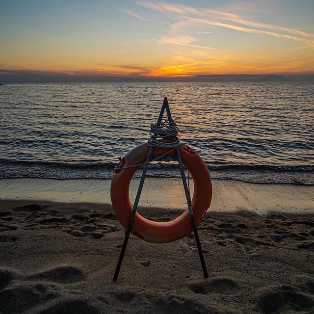 Sunset - Limnos (Greece)  Richa Nera Beach (Myrina Town) (Greece - NE Aegean) Olympus OM-D EM1.3 & Laowa 10mm F2 Wide Prime Lens