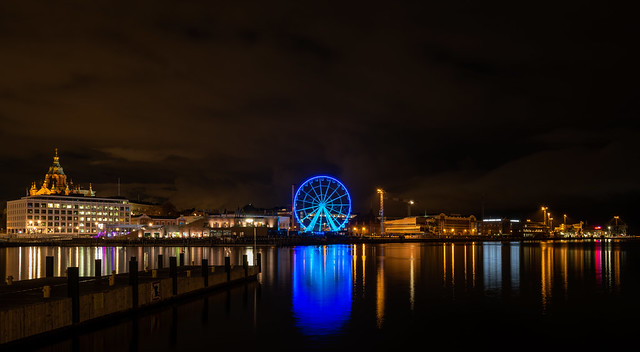 Port of Helsinki by Night