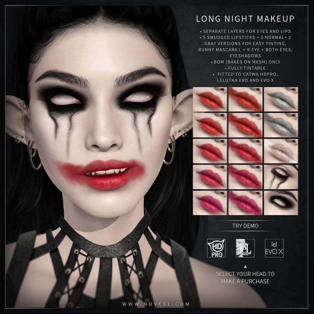 Long night make-up set – Catwa HDPRO/Lelutka Evo Classic/Lelutka Evo X