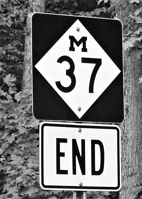 MI, Old Mission-End M 37 Sign