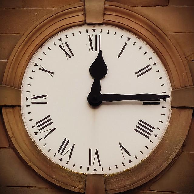 A quarter to half past twelve..............