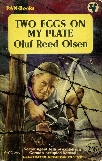 Oluf Reed Olsen - Two Eggs on My Plate (1955, PAN-Books, Great Pan #GP30, cover art by Carl Wilton)
