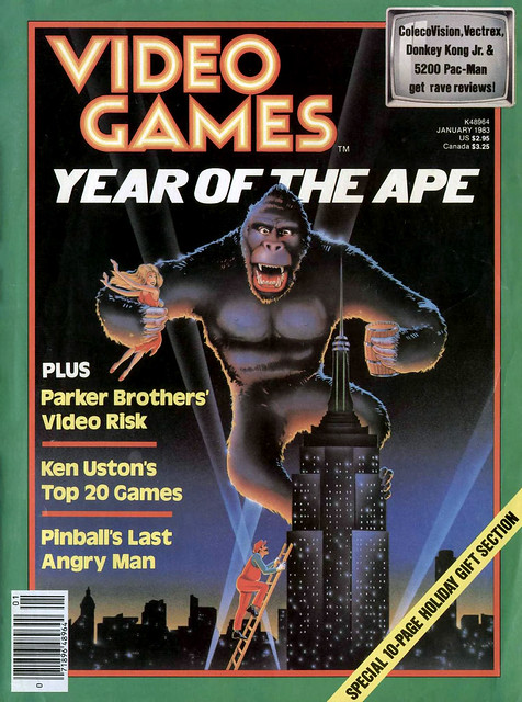 Year of the Ape, Video Games, January 1983, cover by Bob Radigan