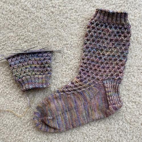 Golden mermaid socks