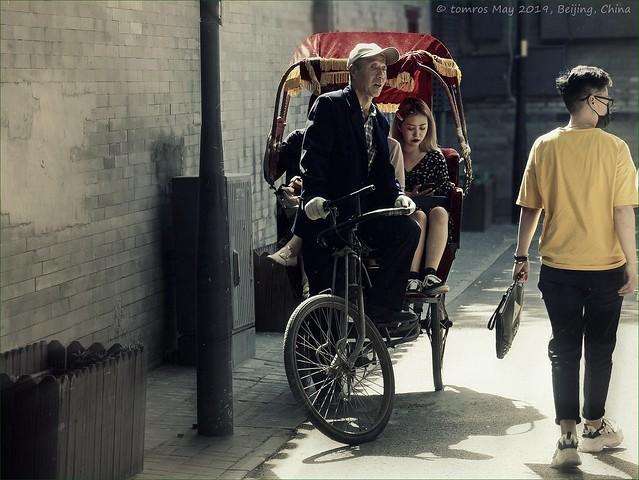 Rickshaw at Hutong District, Beijing, China.