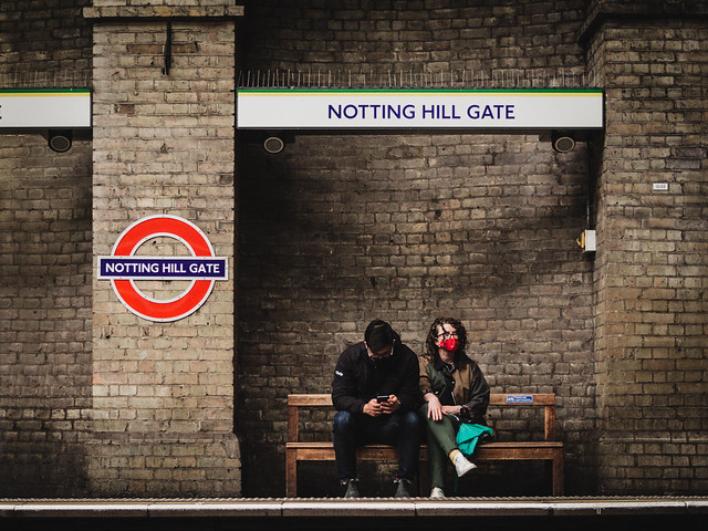 Couple at Notting Hill Gate