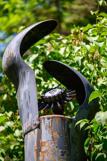 Koss sculpture in Jewett, NY