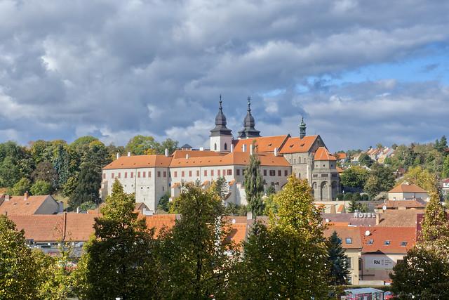 Třebíč castle in autumn