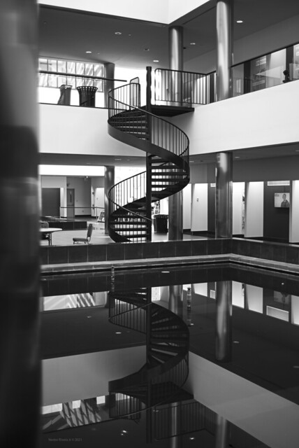 Reflected Spiral Staircase