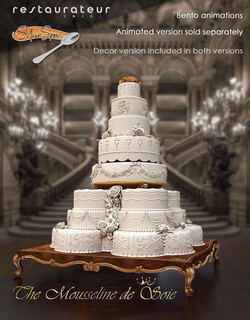 """Cake """"The Mousseline de Soie"""". Restaurateur & Silver Spoon"""