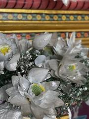 Silver lotus & Buddha at the #temple last week #bangkok