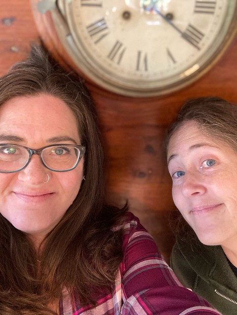 Us with the old clock