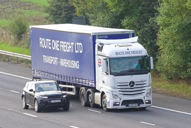 Route One Freight Mercedes Actros YG68EBF
