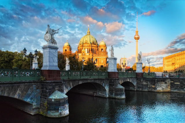 Berlin Cathedral in the sunset