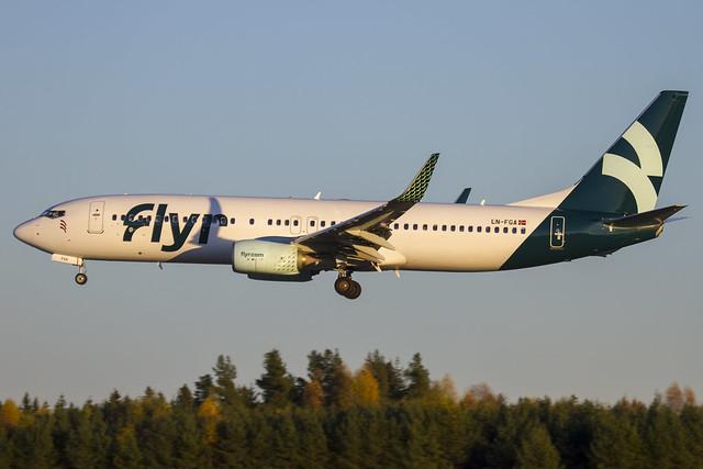 LN-FGA  Flyr  Boeing 737-82R(WL) cn:40014 / 4298