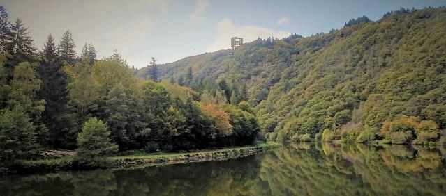 Saarschleife, reflections