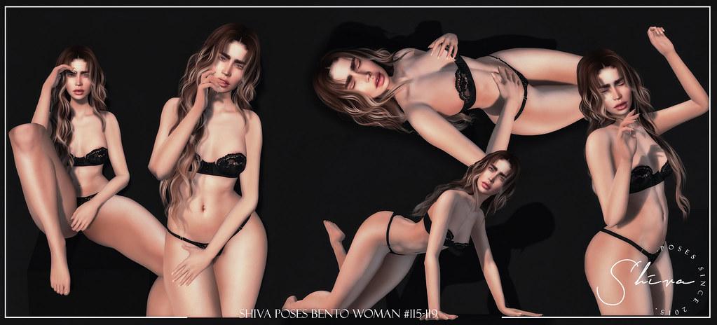 shiva poses Bento woman #115-119