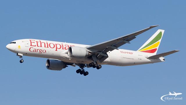 TLV - * Rare * Ethiopian Cargo Boeing 777-200 Freighter ET-APS