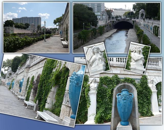 Wienfluss-Promenade im Wiener Stadtpark / 'Vienna river-Promenade' in the Vienna City Park