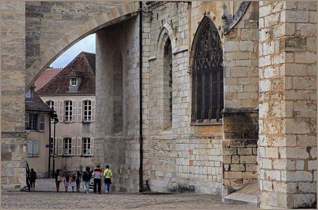 Côté sud de la Cathédrale Saint-Étienne, Bourges, Cher, Région Centre-Val de Loire, France