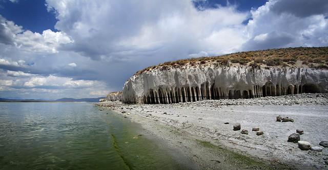 Lake Crowley Columns Shoreline - Owens Valley California