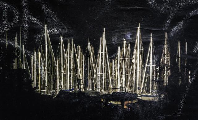 nuit sur le port (affiche)