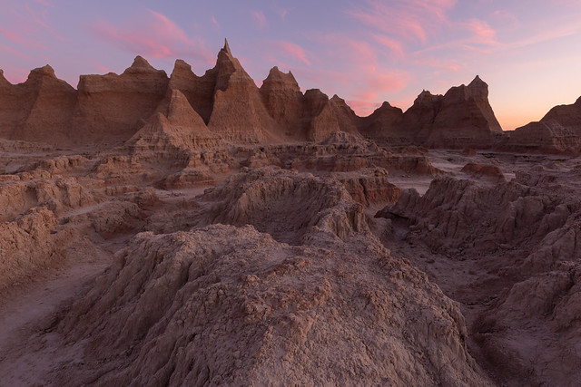 Pink Paint Over the Badlands