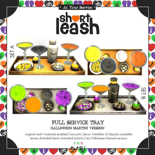 .:Short Leash:. Full Service Tray Halloween Version ad