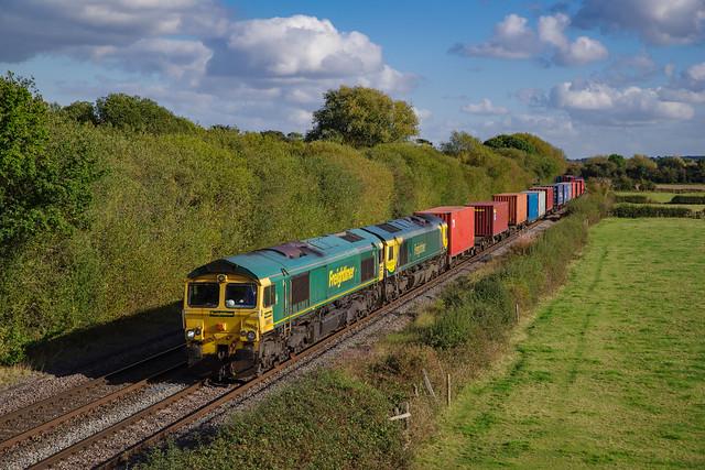 66557+66416 At Barrow Upon Trent. 15/10/2021