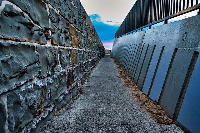 Sea wall corridor