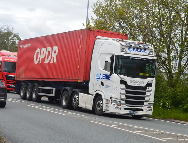 Nene Transport FX67 NNZ Driving Along the A5 At Oswestry