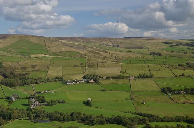 Bird's Eye View, Peak District National Park, Derbyshire, England.