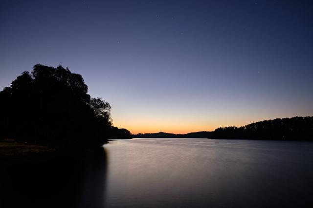 sunrise at lake Müritz