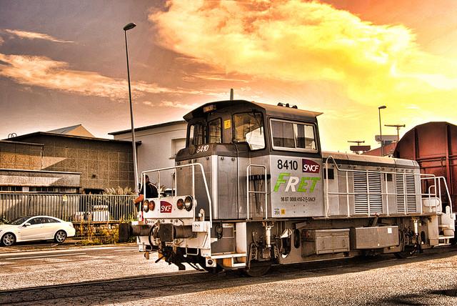 Gare de triage, port de Saint-Nazaire.