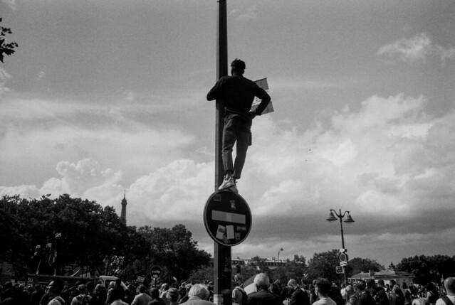 Paris, août 2021, manifestation contre le passe sanitaire