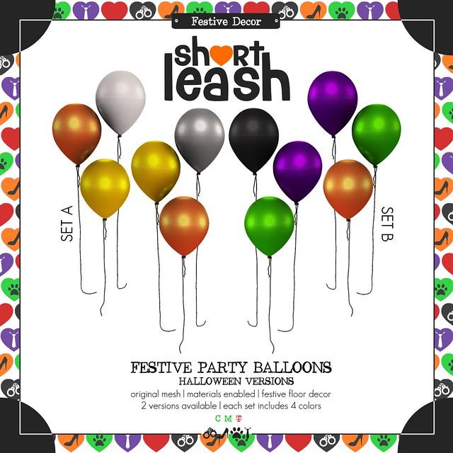 .:Short Leash:. Festive Party Balloons - Halloween Versions