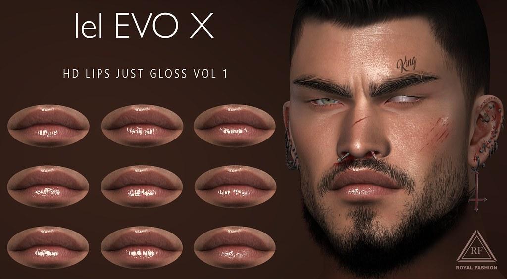 [ Royal Fashion ] HD Lips Just Gloss VOL 1 EVOX
