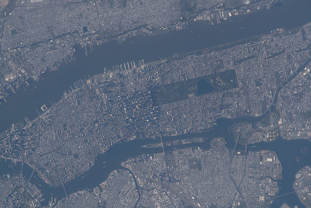 Manhattan Island in New York City