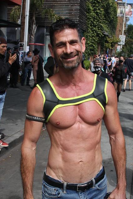 WHOA ! SUPER TIGHT MUSCLE MAN ! photographed by ADDA DADA ! ~ FOLSOM STREET FAIR 2021 !  (safe photo )