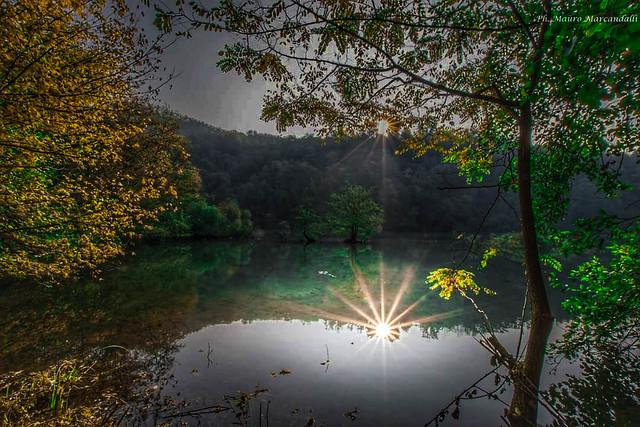 autunno sul fiume Adda