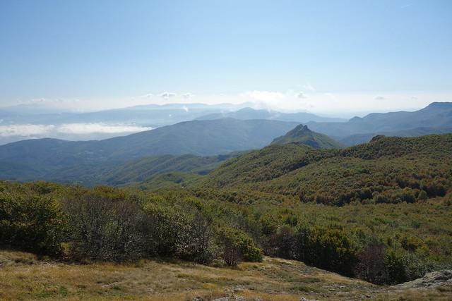 From Monte Maggiorasca Trail; view toward Passo del Tomarlo