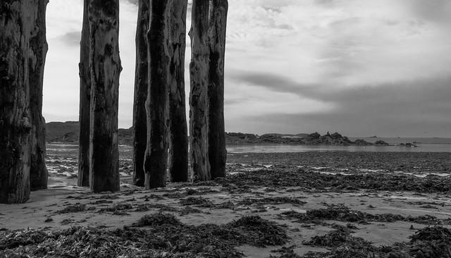 Etonnante plage de St-Malo à marée basse