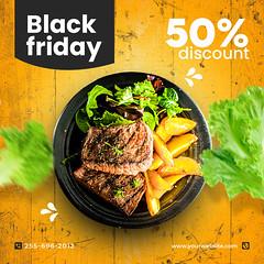Black Friday Food promotion social media post and web banner