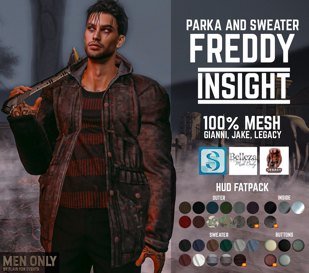 [INSIGHT] Parka and sweater FREDDY