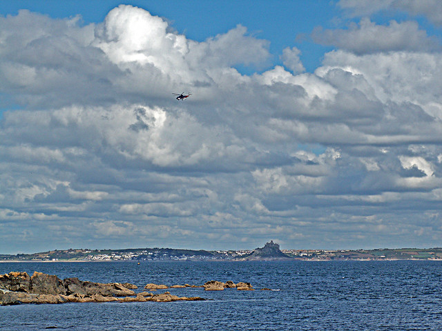 Helicopter Over Mounts Bay