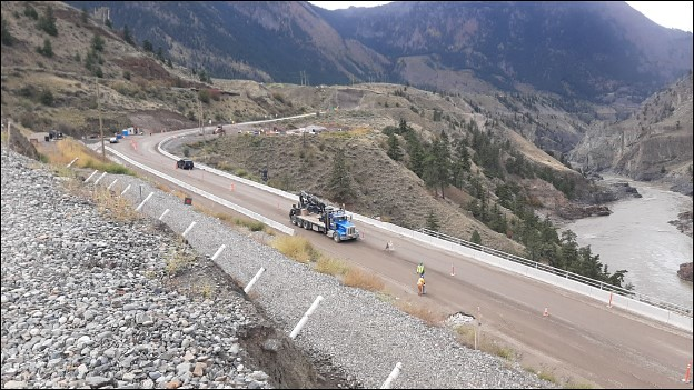 Ten Mile Slide construction nears completion