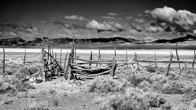 Corral in Railroad Valley Nevada