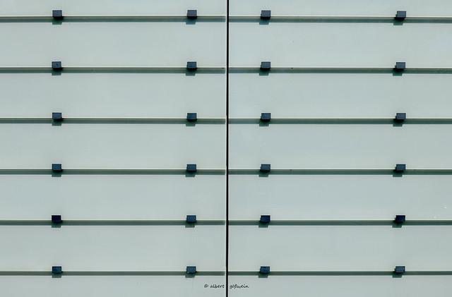 stripes of glass
